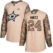 Cheap Adidas Stars #24 Roope Hintz Camo Authentic 2017 Veterans Day Youth Stitched NHL Jersey