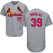 Wholesale Cheap Cardinals #39 Miles Mikolas Grey Flexbase Authentic Collection Stitched MLB Jersey