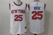 Wholesale Cheap Men's New York Knicks #25 Derrick Rose White Revolution 30 Swingman Basketball Jersey
