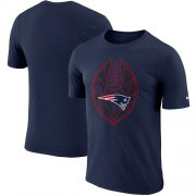 Wholesale Cheap Men's New England Patriots Nike Navy Fan Gear Icon Performance T-Shirt