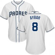 Wholesale Cheap Padres #8 Erick Aybar White New Cool Base Stitched MLB Jersey