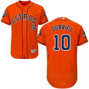 Wholesale Cheap Astros #10 Yuli Gurriel Orange Flexbase Authentic Collection 2019 World Series Bound Stitched MLB Jersey