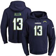 Wholesale Cheap Nike Chargers #13 Keenan Allen Navy Blue Name & Number Pullover NFL Hoodie