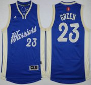 Wholesale Cheap Men's Golden State Warriors #23 Draymond Green Revolution 30 Swingman 2015 Christmas Day Blue Jersey