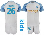 Wholesale Cheap Marseille #26 Thauvin Home Kid Soccer Club Jersey