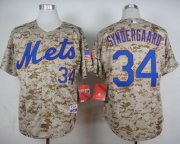 Wholesale Cheap Mets #34 Noah Syndergaard Camo Alternate Cool Base Stitched MLB Jersey
