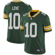 Wholesale Cheap Youth Green Bay Packers #10 Jordan Love Green Limited Team Color Vapor Untouchable Jersey