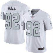 Wholesale Cheap Nike Raiders #92 P.J. Hall White Men's Stitched NFL Limited Rush Jersey