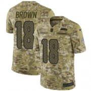 Wholesale Cheap Nike Seahawks #18 Jaron Brown Camo Men's Stitched NFL Limited 2018 Salute To Service Jersey
