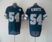 Wholesale Cheap Mitchell & Ness Cowboys #54 Randy White Blue With 25th Patch Stitched Throwback NFL Jersey