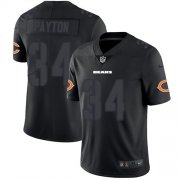 Wholesale Cheap Nike Bears #34 Walter Payton Black Men's Stitched NFL Limited Rush Impact Jersey