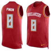 Wholesale Cheap Nike Buccaneers #8 Bradley Pinion Red Team Color Men's Stitched NFL Limited Tank Top Jersey