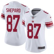 Wholesale Cheap Nike Giants #87 Sterling Shepard White Women's Stitched NFL Vapor Untouchable Limited Jersey
