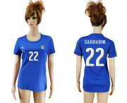 Wholesale Cheap Women's Italy #22 Gabbiadini Home Soccer Country Jersey