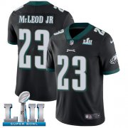Wholesale Cheap Nike Eagles #23 Rodney McLeod Jr Black Alternate Super Bowl LII Men's Stitched NFL Vapor Untouchable Limited Jersey