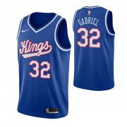 Wholesale Cheap Men's Sacramento Kings #32 Wenyen Gabriel Blue 2019-20 Hardwood Classics Jersey