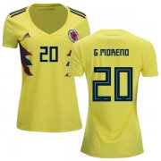 Wholesale Cheap Women's Colombia #20 G.Moreno Home Soccer Country Jersey