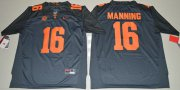 Wholesale Cheap Tennessee Vols #16 Peyton Manning Grey 2016 Stitched NCAA Jersey