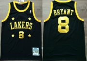 Wholesale Cheap Los Angeles Lakers #8 Kobe Bryant Black With Yellow Star Swingman Throwback Jersey