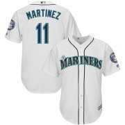 Wholesale Cheap Seattle Mariners #11 Edgar Martinez Majestic 2019 Hall of Fame Induction Home Cool Base Player Jersey White