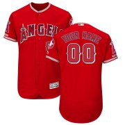 Wholesale Cheap Los Angeles Angels Majestic Alternate Flex Base Authentic Collection Custom Jersey Scarlet