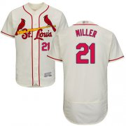 Wholesale Cheap Cardinals #21 Andrew Miller Cream Flexbase Authentic Collection Stitched MLB Jersey