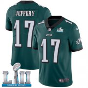 Wholesale Cheap Nike Eagles #17 Alshon Jeffery Midnight Green Team Color Super Bowl LII Youth Stitched NFL Vapor Untouchable Limited Jersey