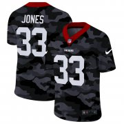 Cheap Green Bay Packers #33 Aaron Jones Men's Nike 2020 Black CAMO Vapor Untouchable Limited Stitched NFL Jersey
