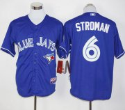 Wholesale Cheap Blue Jays #6 Marcus Stroman Blue Alternate Cool Base Stitched MLB Jersey