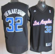 Wholesale Cheap Los Angeles Clippers #32 The Blake Show Black With Blue Fashion Jersey