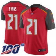 Wholesale Cheap Nike Buccaneers #21 Justin Evans Red Team Color Men's Stitched NFL 100th Season Vapor Untouchable Limited Jersey