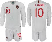 Wholesale Cheap Portugal #10 J.Mario Away Long Sleeves Soccer Country Jersey