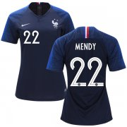 Wholesale Cheap Women's France #22 Mendy Home Soccer Country Jersey