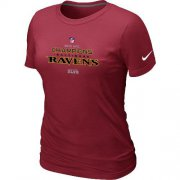 Wholesale Cheap Women's Nike Baltimore Ravens 2012 AFC Conference Champions Trophy Collection Long T-Shirt Red