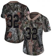 Wholesale Cheap Nike Browns #32 Jim Brown Camo Women's Stitched NFL Limited Rush Realtree Jersey