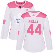 Wholesale Cheap Adidas Maple Leafs #44 Morgan Rielly White/Pink Authentic Fashion Women's Stitched NHL Jersey