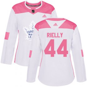 Wholesale Cheap Adidas Maple Leafs #44 Morgan Rielly White/Pink Authentic Fashion Women\'s Stitched NHL Jersey