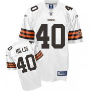 Wholesale Cheap Browns #40 Peyton Hillis White Stitched NFL Jersey
