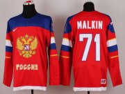 Wholesale Cheap 2014 Olympic Team Russia #71 Evgeni Malkin Red Stitched NHL Jersey