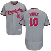 Wholesale Cheap Nationals #10 Yan Gomes Grey Flexbase Authentic Collection 2019 World Series Champions Stitched MLB Jersey