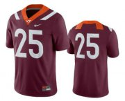 Wholesale Cheap Men's Virginia Tech Hokies #25 Maroon College Football Nike Jersey
