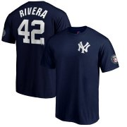 Wholesale Cheap New York Yankees #42 Mariano Rivera Majestic 2019 Hall of Fame Name & Number T-Shirt Navy