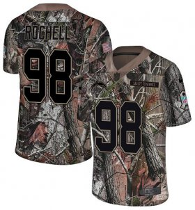 Wholesale Cheap Nike Chargers #98 Isaac Rochell Camo Men\'s Stitched NFL Limited Rush Realtree Jersey