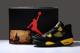 Wholesale Cheap Air Jordan IV New Shoes Yellow/Black