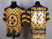 Wholesale Cheap Nike Steelers #43 Troy Polamalu Gold Men's Stitched NFL Elite Noble Fashion Jersey
