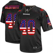 Wholesale Cheap Nike Buccaneers #40 Mike Alstott Black Men's Stitched NFL Elite USA Flag Fashion Jersey