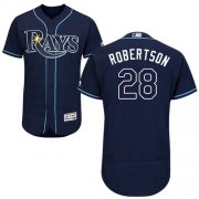 Wholesale Cheap Rays #28 Daniel Robertson Dark Blue Flexbase Authentic Collection Stitched MLB Jersey
