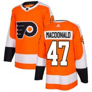 Wholesale Cheap Adidas Flyers #47 Andrew MacDonald Orange Home Authentic Stitched NHL Jersey