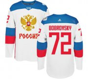 Wholesale Cheap Team Russia #72 Sergei Bobrovsky White 2016 World Cup Stitched NHL Jersey
