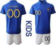 Wholesale Cheap France Personalized 100th Anniversary Edition Kid Soccer Country Jersey